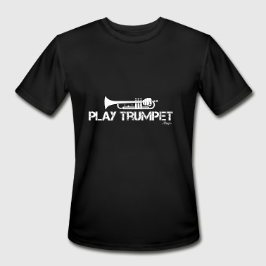Playing Trumpet Play Trumpet - Men's Moisture Wicking Performance T-Shirt