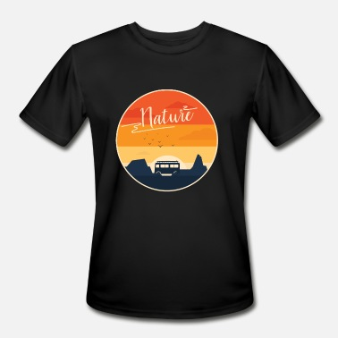 Motif Surfboard Nature Bus Surfboard - Men's Sport T-Shirt