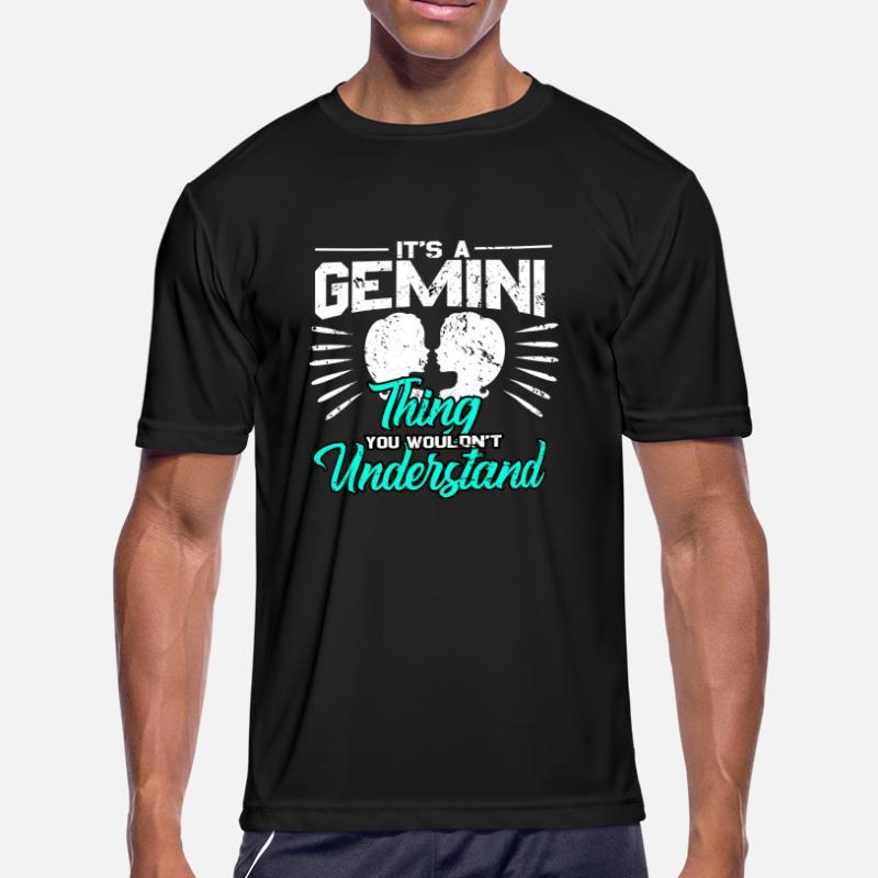 cfc4112f5 Gemini Star Sign Zodiac Signs Astrological Women t-shirt Ladies Tee Black  Unique Tops & Shirts