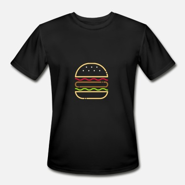 Hamburger Minimalist Burger (Low Calorie) - Men's Moisture Wicking Performance T-Shirt