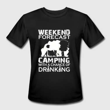 Camping - Weekend Forecast - Men's Moisture Wicking Performance T-Shirt