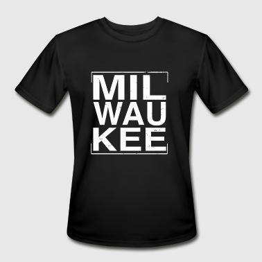 Milwaukee Wisconsin Wisconsin - Cool Distressed Milwaukee Wisconsin - Men's Moisture Wicking Performance T-Shirt