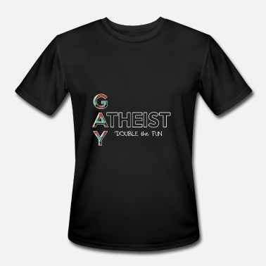 Gay Atheist Gay - Gay Atheist -- Double the Fun - Men's Sport T-Shirt