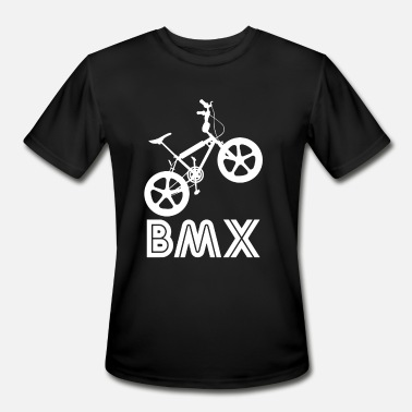 Bmx Race BMX Silhouette - Men's Moisture Wicking Performance T-Shirt