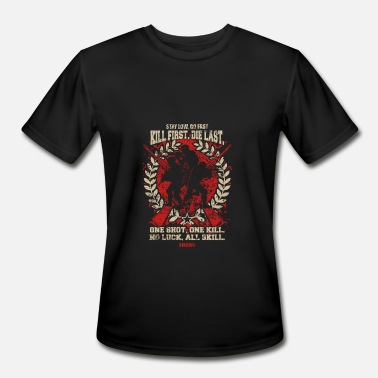 Civil War Softair Airsoft – Kill First, Die Last, One shot, One - Men's Moisture Wicking Performance T-Shirt