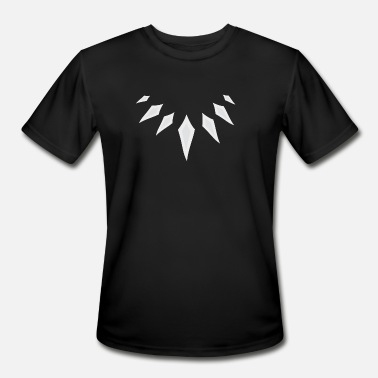 Black Panther Necklace - Men's Moisture Wicking Performance T-Shirt