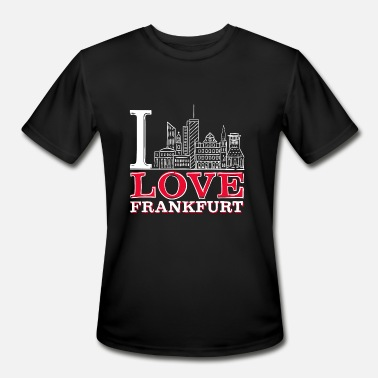 I Love Frankfurt I Love Frankfurt - Men's Moisture Wicking Performance T-Shirt