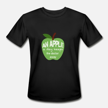 An apple a day keeps the doctor away - Men's Moisture Wicking Performance T-Shirt