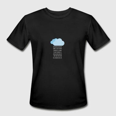 Cloud computing - Binary cloud - Men's Moisture Wicking Performance T-Shirt