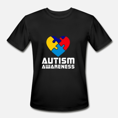 Autism Awareness Puzzle Autism Heart Puzzle Awareness - Men's Moisture Wicking Performance T-Shirt