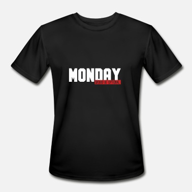Office Monday Funny Monday Office Joke Monday Should Be Optional - Men's Moisture Wicking Performance T-Shirt