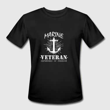 Marine Veteran Defenders Of Freedom T Shirt Gift - Men's Moisture Wicking Performance T-Shirt
