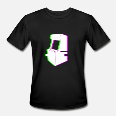 Retro Arcade Retro Glitch Arcade Machine - Men's Moisture Wicking Performance T-Shirt