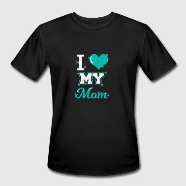 I Love My Football Boy Mom Shirt: I love My Mom T-shirt for You! - Men's Moisture Wicking Performance T-Shirt