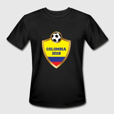 Colombia 2018 National Soccer Team Design - Men's Moisture Wicking Performance T-Shirt