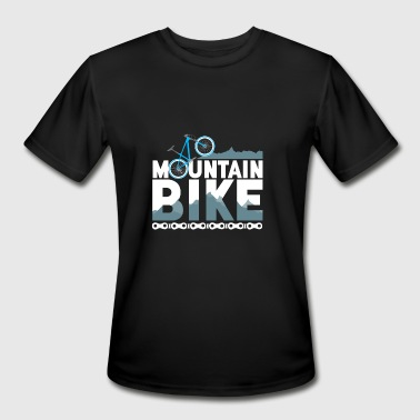 Mountainbike Bicycle Trail Mud Downhill - Men's Moisture Wicking Performance T-Shirt