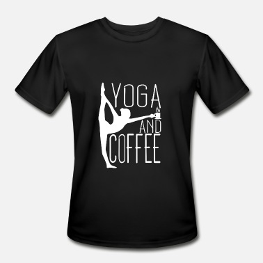 Yoga And Coffee Yoga and Coffee T Shirt - Men's Moisture Wicking Performance T-Shirt