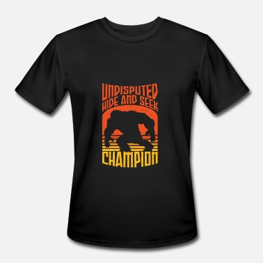 Seek Funny Bigfoot Funny Hide and Seek champion - Men's Moisture Wicking Performance T-Shirt