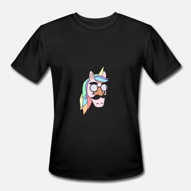 Beard Unicorn Unicorn Mask Halloween Human Face gift idea - Men's Moisture Wicking Performance T-Shirt