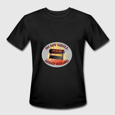 Grilled Meat Grill The Meat - Men's Moisture Wicking Performance T-Shirt