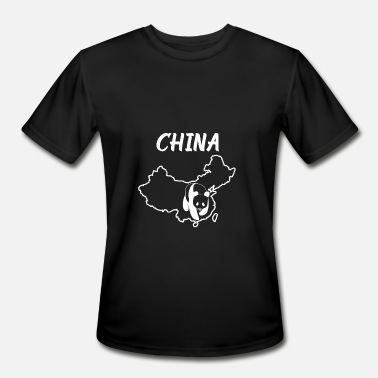 Dongguan China Country Map And Panda - Men's Moisture Wicking Performance T-Shirt