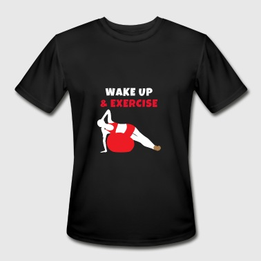 Ball Up Wake up and Exercise Ball - Men's Moisture Wicking Performance T-Shirt