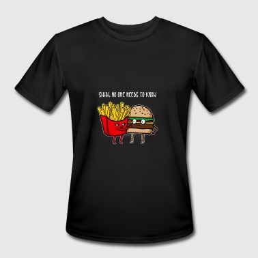Burger Funny Cool Awesome Burger and fries gift - Men's Moisture Wicking Performance T-Shirt