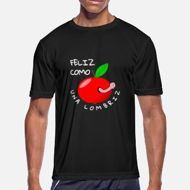 002542a2 Funny Spanish Sayings Feliz Como Una Lombriz - funny Spanish saying -  Men'. Men's Sport T-Shirt