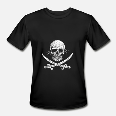 Jack Rackham Jolly Roger Skull and Cutlasses Pirate Flag Gift - Men's Moisture Wicking Performance T-Shirt