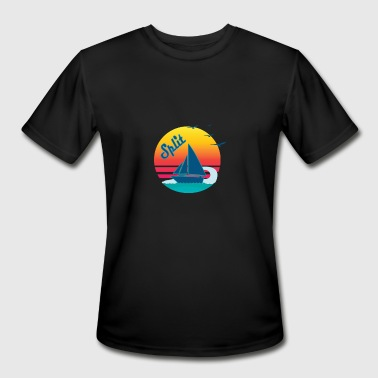 Split Croatia Retro Vintage Split Sunset, #Split - Men's Moisture Wicking Performance T-Shirt