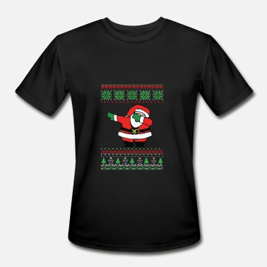 Ugly-holiday-sweater dabbing ugly sweater santa - Men's Moisture Wicking Performance T-Shirt