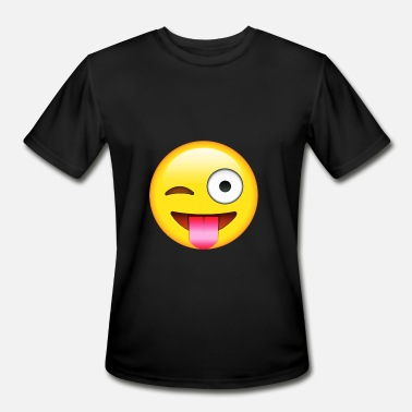 Wink Face With Stuck out Tongue and winking Eye E-moji - Men's Sport T-Shirt