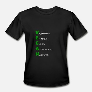 Veganism Vegan Definition Shirt - Funny Vegan Tee - Men's Moisture Wicking Performance T-Shirt