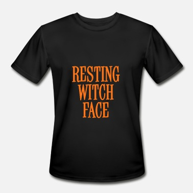 Spooky Bitch Resting Witch Face Orange - Men's Moisture Wicking Performance T-Shirt