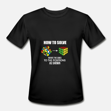 Rubiks Cube How To Solve Puzzle Cube - Funny Cubing - Men's Moisture Wicking Performance T-Shirt