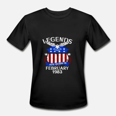 February 1983 Legends Are Born In February 1983 - Men's Sport T-Shirt