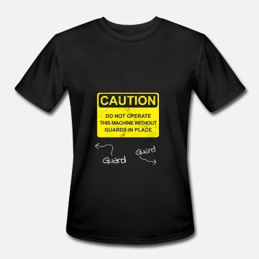 Asphalt Paver Operator Funny Caution Tee Gift funny Machine Operator / Guard - Men's Moisture Wicking Performance T-Shirt
