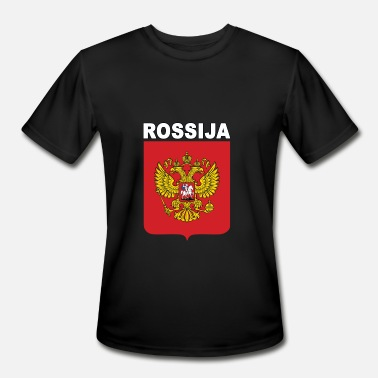 Rossija Rossija National Russian Emblem Pride - Men's Moisture Wicking Performance T-Shirt
