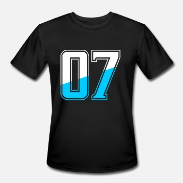 Lucky Number Seven Number Tshirt - Men's Moisture Wicking Performance T-Shirt