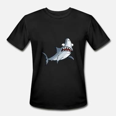 Kid Friendly Friendly Shark - Men's Moisture Wicking Performance T-Shirt