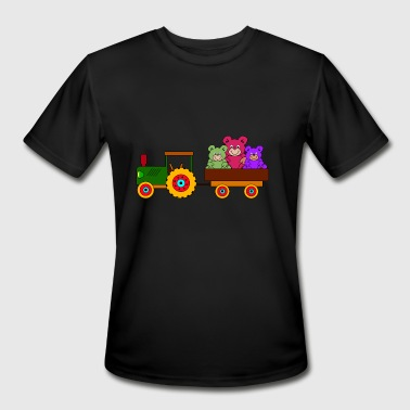 toy tractor with trailer and bears - Men's Moisture Wicking Performance T-Shirt