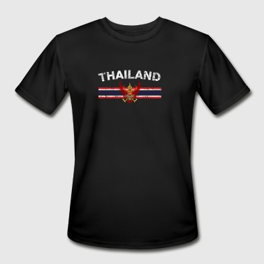 I Love Thailand Thai Flag Shirt - Thai Emblem & Thailand Flag Shir - Men's Moisture Wicking Performance T-Shirt