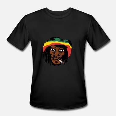 Bob Marley Weed Bob Marley smoking a Spliff - Men's Moisture Wicking Performance T-Shirt