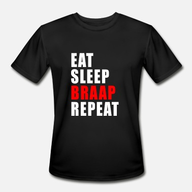 Sleep Eat Sleep Braap Repeat MX Motocross Gift Idea - Men's Moisture Wicking Performance T-Shirt