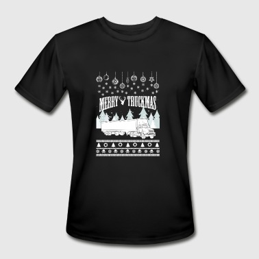 Lesbian Merry Truck Driver - Merry truckmas awesome sweater - Men's Moisture Wicking Performance T-Shirt