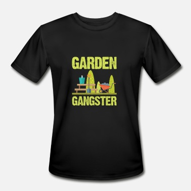 Gardening Enthusiasts Garden Gangster - Men's Moisture Wicking Performance T-Shirt