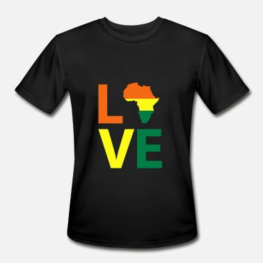 Afrocentric Black Africa Love, Black History, Afrocentric - Men's Moisture Wicking Performance T-Shirt