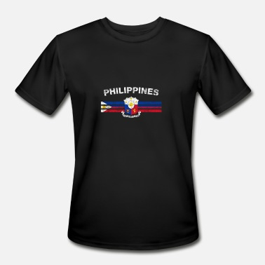 Filipino Flag Philippines Filipino Flag Shirt - Filipino Emblem & Philippine - Men's Moisture Wicking Performance T-Shirt