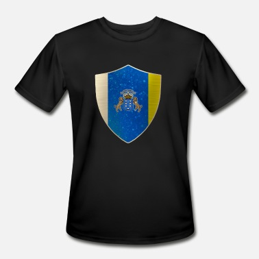 Canary Islands Canary Islands Coat of Arms - Men's Moisture Wicking Performance T-Shirt