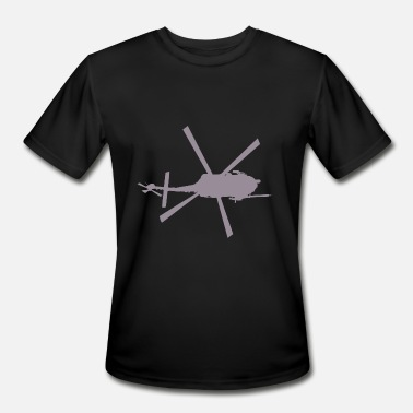 Helicopter Chopper Funny Helicopter - Spinning Blades Chopper - Hum - Men's Moisture Wicking Performance T-Shirt